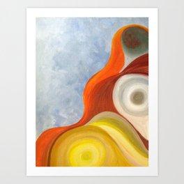 Cadmium Wave Art Print