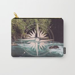 Rose Gold River Compass Carry-All Pouch