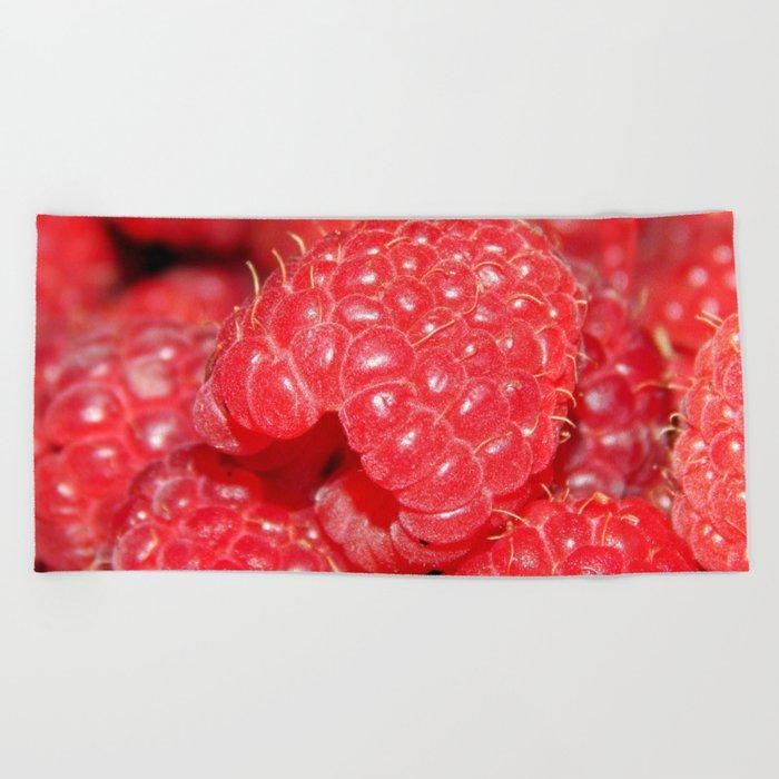 Red Raspberries Freshly Picked Beach Towel