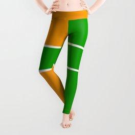 Team Color 6...green,orange Leggings