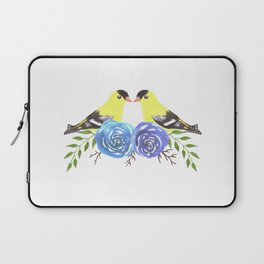 American goldfinch on roses Laptop Sleeve