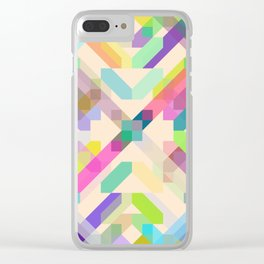 Colorful Geometric Abstract Pattern Clear iPhone Case