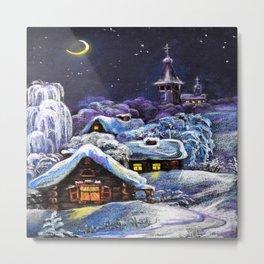 Winter in the village # 5 Metal Print