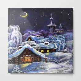 Winter in the village # 5 Metal Print