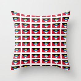 flag of Antigua and barbuda -antiguan,barbudan,caribean,antilles,Saint John,madeiran Throw Pillow