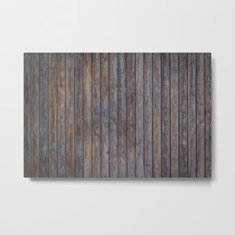 Vintage Wood background - photo wallpaper Metal Print