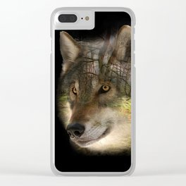 Wolf in the Forrest Clear iPhone Case