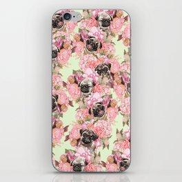Pugs in Garden iPhone Skin