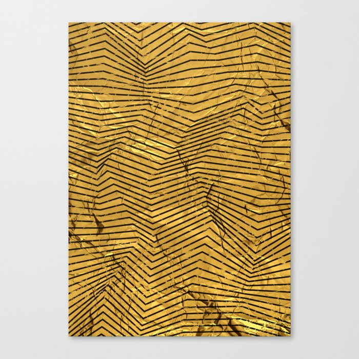 Line Gold Pattern Canvas Print