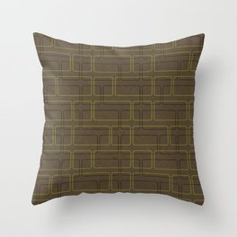 Cuadrados One Brown Throw Pillow