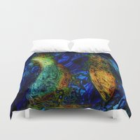 pi Duvet Covers featuring PI by RingWaveArt