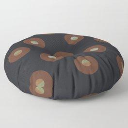 black coffee || moon drops Floor Pillow