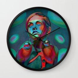 """Psychedelic Pop Fantasy"" (Twiggy II) Wall Clock"