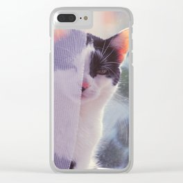 hazy mornings Clear iPhone Case