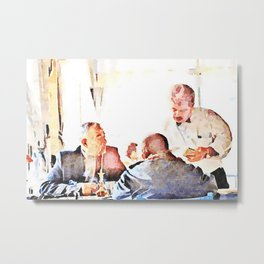 Aleppo: men and room maids Metal Print