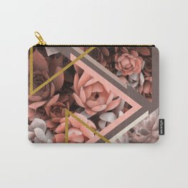Elegant Succulents #society6 #decor #buyart Carry-All Pouch