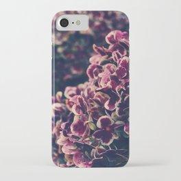hydrangea - deep purple iPhone Case