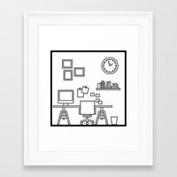study Framed Art Prints featuring Study by Stephen Cheetham