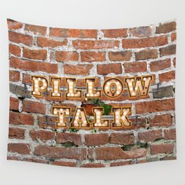 Pillow Talk - Brick Wall Tapestry