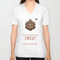 nausicaa V-neck T-shirts featuring Ohmu Sweet Ohmu by adho1982