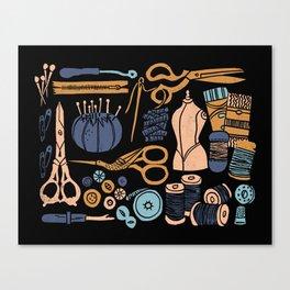 Sewing Notions Block Print Canvas Print