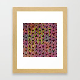 Don't Give Up Quote with Geometric Triangle Pattern Framed Art Print
