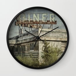 Abandoned Diner 2 Wall Clock