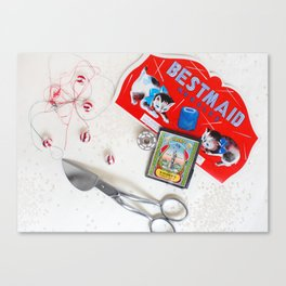 Sewing Collages Canvas Print