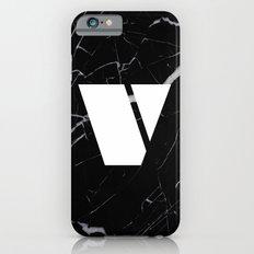 Black Marble - Alphabet V Slim Case iPhone 6s