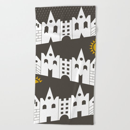 houses Beach Towel