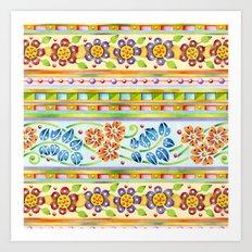 Parterre Botanique Art Print