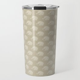 White Dog Sleeping Travel Mug
