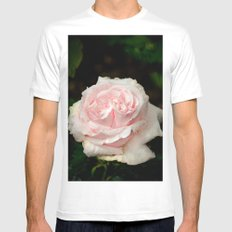 Rose twins with droplets MEDIUM Mens Fitted Tee White