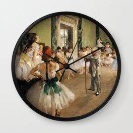 The Ballet Class by Edgar Degas Wall Clock