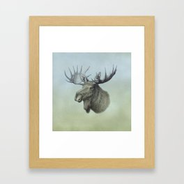 Moose, Elch, Elg Framed Art Print