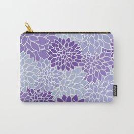 Ultra Violet Lavender Dahlias Carry-All Pouch