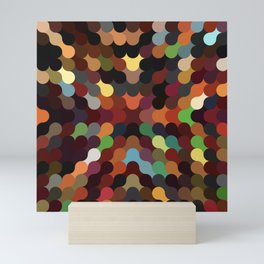 carly - vivid colourful playful modern abstract pattern Mini Art Print