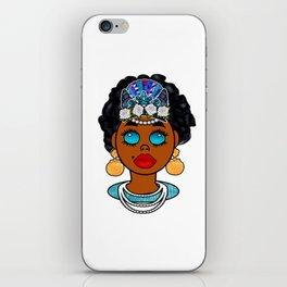 Goddess in Blue iPhone Skin