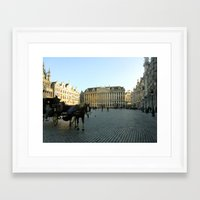 brussels Framed Art Prints featuring Brussels by Emily Brady