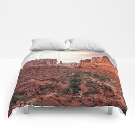Fire Red Rock Formations in Utah Comforters