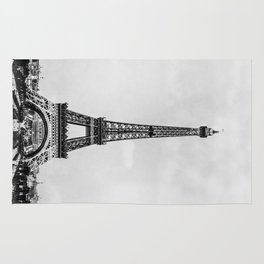 Eiffel tower, Paris France in black and white with painterly effect Rug