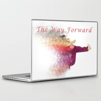 hiphop Laptop & iPad Skins featuring Famous humourous quotes series: The way forward. Exploding hiphop dancer  by PhotoStock-Israel