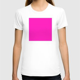The Future Is Bright Pink - Solid Color - Hot Pink T-shirt