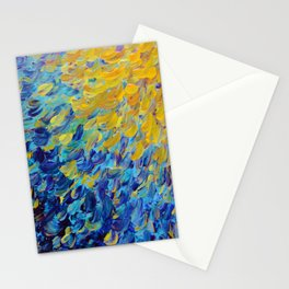 AQUATIC MELODY - Lovely Bright Abstract Ocean Waves Acrylic Painting Colorful Rainbow Beach Gift Art Stationery Cards