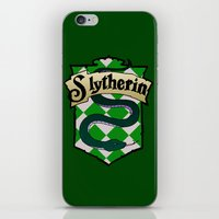 slytherin iPhone & iPod Skins featuring Slytherin Crest by AriesNamarie