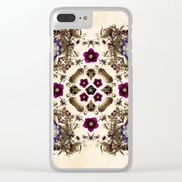 Hellebore and Nightshade Mandala Pattern Clear iPhone Case