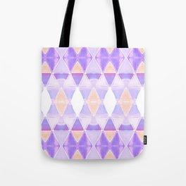 Art Deco Triangles Light Purple Tote Bag