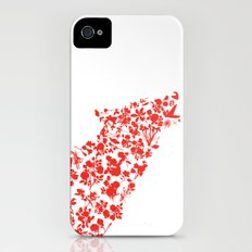 Wolf blooming Slim Case iPhone (4, 4s)