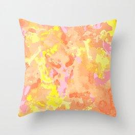 Set of vinous paint, ink, grunge, dirty brush strokes. splash orange Throw Pillow