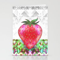 strawberry Stationery Cards featuring Strawberry by Ornaart